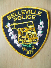 Patches: BELLEVILLE NEW JERSEY 1839 POLICE PATCH (NEW, apx.4.6x4)