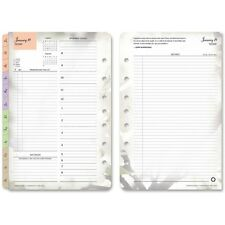 "Franklin Covey Co. Planner Refill Daily 2PPD Jan-Dec Blooms 5-1/2""x8-1/2"" 35444"