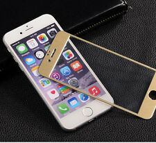 iPhone 5 Tempered Glass Screen Protector With Gold Brushed Steel Alloy on Bezel