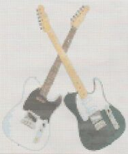 Status Quo Crossed Guitars Counted Cross Stitch  Full Kit
