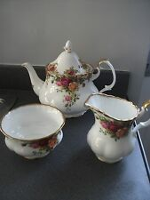 Royal Albert Old Country Roses Teiera, Brocca Latte & Zuccheriera