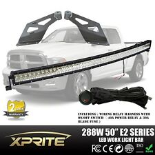 "50"" Curved LED Light Bar and Mount Bracket Combo for Dodge RAM 1500 2500 3500"