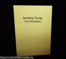 SPEAKING THINGS INTO EXISTENCE Finbarr Grimoire Magic Magick White Occult