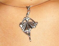danseuse classique pendentif argent sterling silver ballet dancer pendant charm!