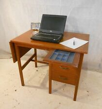 RETRO TEAK DESK VINTAGE COMPUTER DESK OFFICE DESK 60s HOME OFFICE STUDY DESK