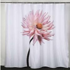 Large Pink Flower Bathroom Shower Curtain 180cm x 200cm Polyester Hooks