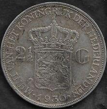 Netherlands 1930 silver 2 1/2 Gulden