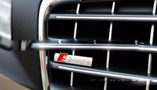 NEW CHROME AUDI S Line 3D Metal SLINE Front Racing Grill Grille Emblem Badge