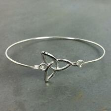 Celtic Triquetra Bracelet - Sterling Silver Filled - Trinity Knot Jewelry NEW