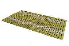 Kapok Matte Thai Rollmatte rollbar Boden Gymnastik futon grün