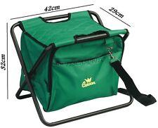 sgabello con borsa porta accessori da pesca trota lago bolognese porto sedia
