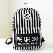 KPOP EXO Canvas Backpack Casual Preppy Travel Sports Bag Mens Womens Schoolbag