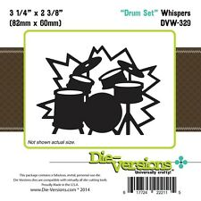 Die-Versions DRUM SET  Whispers Die DVW-329 82mm x 60mm KIT CYMBAL MUSIC