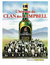 PUBLICITE   1982   CLAN CAMPBELL whisky  l'héritages