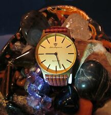 Men's Rare Swiss Jules Jurgensen Watch 17 Jewel A4 Wind Gold Tone Circa 1960's