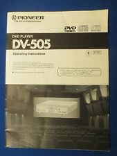 PIONEER DV-505 OWNER OPERATING MANUAL ORIGINAL FACTORY ISSUE THE REAL THING