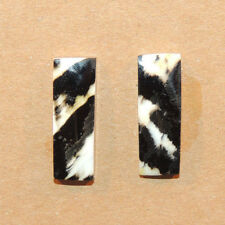 Black Lip Oyster Shell 19.5x6.5mm with 4.5 mm dome Cabochons Set of 2 (10972)