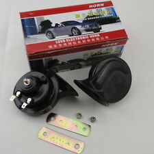 Loud Dual-Tone Snail Universal Electric Horn 12V 110 DB  Car/Truck Auto Solid
