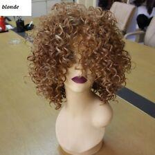 ryan Choppy fabcurls blonde black afro kinky curly Wig ( stn)