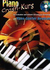 Klavier Noten Schule : Piano Crash Kurs  mit CD  (Heumann) Anfänger  sehr leicht