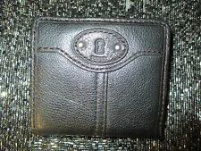NEW Fossil Maddox Bifold Wallet ID Bag Handbag Real Leather Black