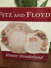 Fitz and Floyd Winter Wonderland Server and Canape Plate Set NEW in Box Retired
