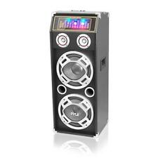 New PSUFM1035A 1000 W Disco Jam Powered Two-Way Bluetooth Speaker with DJ Lights