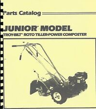 Troy Bilt Junior Tiller Parts Catalog/Manual 1987