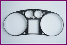 B037-R005 AUDI A3 8L 96-03, TT 8N 98-06 CF Gauge Bezel + CHROME Rings Clocks