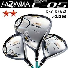 HONMA GOLF JAPAN BERES E-05 DRIVER & E-05 FAIRWAY 3-clubs SET (1xDR , 2xFW) 2S