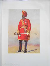 Antiquarian Indian Army Print (1911) Bharatpur Infantry Commandant - A C Lovett