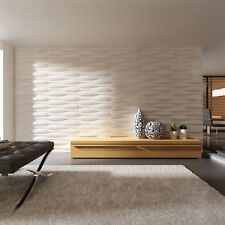 3D Wall Panels Feature Wallpaper Decorative Bamboo Fibre Tiles Covering Waves