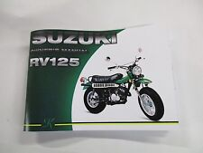 Suzuki RV125 owners manual 1973  RV125K