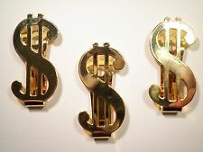 1 Gold Plated Dollar Sign Money Sign Money Clip