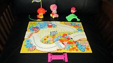 Vintage Upsy Downsy Tickle Pinkle Set Bugabout Car Playland Board Mattel Pink