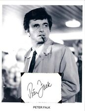 Peter Falk Autograph Lieutenant Columbo Actor Murder Inc Pocketful of Miracle #1
