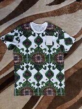 BNWT Men Givenchy Carpet Green & White Cotton T-shirt Made In Portugal Size L