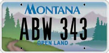 Licence Plate - MONTANA  Kennzeichen USA Nummernschild DEKO, NEU OVP!!