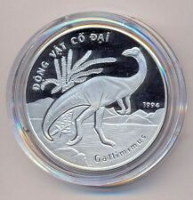 Vietnam Silver Coin 100 Dong 1994 Dinosaur Gallimimus - EXTREMELY RARE