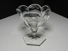 """Jefferson Krys-Tol Chippendale Footed Jelly Clear Crystal 5"""" T ca1907-20s"""