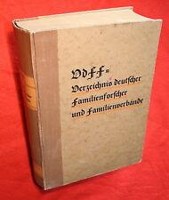 Wasmansdorff-VdFF=Verzeichnis deutscher Familienforscher u.Familienverbände-1938