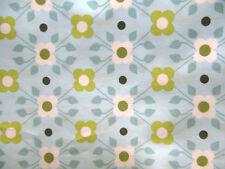 36x148 c Stoff Baumwolle Ökotex grün türkis@retro vintage  Baumwollstoff@Blumen