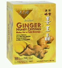 Prince of Peace Instant Ginger Honey Crystals Tea (10*18g tea Bags) ea Box