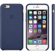 """Funda piel sintetica iPhone 6 y 6S con logo para 4,7"""" Azul"""