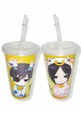 *NEW* Black Butler: Chibi Sebastian & Ciel Cow Cosplay Tumbler with Lid