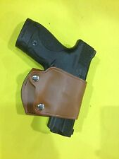 Leather YAQUI Style Holster -  Smith Wesson M&P  SHIELD (#047 BRN)