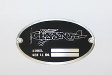 Cessna Aircraft DEA Required Arcft Identification Data Plate Etched Stainless #2