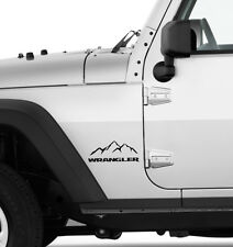 """(2x) 7"""" Mountain Edition Emblem Decal Stickers for Jeep Wrangler (Choose Colour)"""