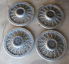 1985 - 1988 ? Ford Thunderbird Wire Wheel Hubcap Set (4) w/ Centers 83 84 85 86