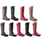 New Ladies Festival Rain Waterproof Wellington Winter Snow Boots UK Sizes 3-8